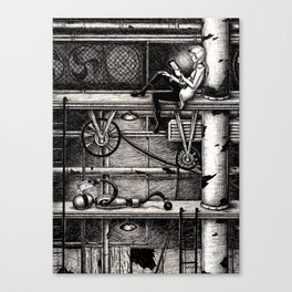 E-Reader Canvas Print