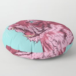 Magenta tiger Floor Pillow