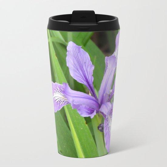 Pale Iris Metal Travel Mug