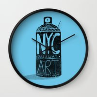 nyc Wall Clocks featuring NYC 1972 by Farnell