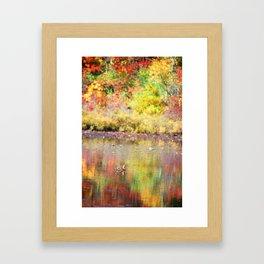 Duck in Foliage Framed Art Print