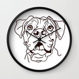 The Boxer Dog Love of my Life Wall Clock