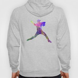 Baseball player throwing a ball Hoody