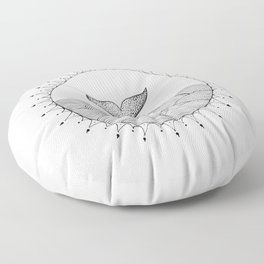 Whale in Waves Floor Pillow