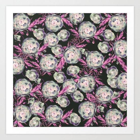 Abstract Poppy Pattern II Art Print
