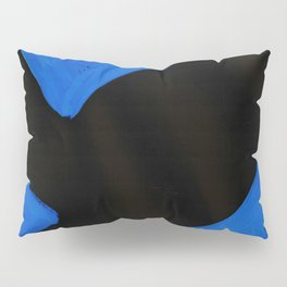 The Crown of Basquiat, Abstract, Electric Blue Pillow Sham
