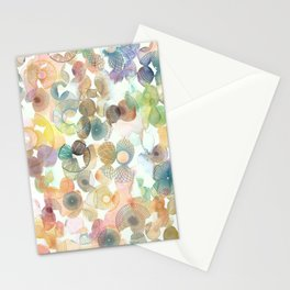 Watercolour spirographs Stationery Cards