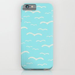 Beach Series Aqua - Sea Gulls Birds in the blue Sky iPhone Case