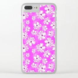 Purple Hawaiian Hibiscus Flowers Clear iPhone Case