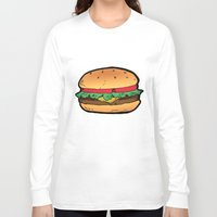 burger Long Sleeve T-shirts featuring Burger by CGREDNECK