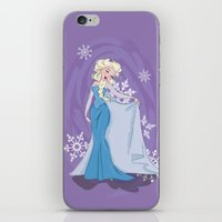 elsa iPhone & iPod Skins featuring Elsa by LarissaKathryn