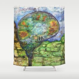 Neuronal Mind Shower Curtain