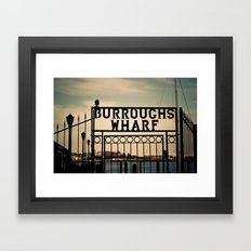 Burroughs Wharf Boston Framed Art Print