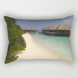 Stilt Houses - Maldives Rectangular Pillow