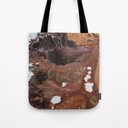 Copper abstract liquidity. Tote Bag