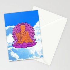 Peace Buddha in the Sky Stationery Cards