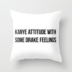 Attitude and Feelings Throw Pillow