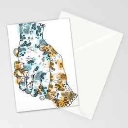 Microscopic Handshake Stationery Cards