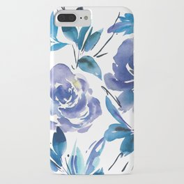 ec30e9603090 Royal Blue Garden 01 iPhone Case