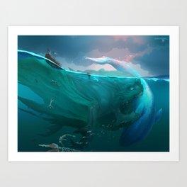 Demon of Overfishing Art Print