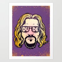 the dude Art Prints featuring Dude by Beery Method