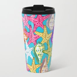 Seashells and sea stars Travel Mug