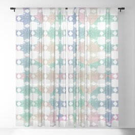 Pastel Stars Sheer Curtain