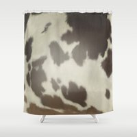 cow Shower Curtains featuring Cow by Eva Nev