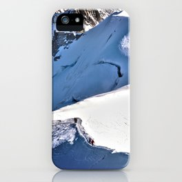 Mont Blanc, hikers, France. iPhone Case