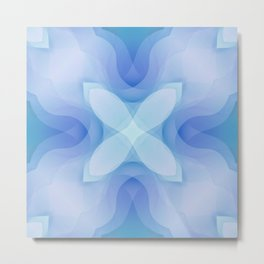 Toulouse Blue Flower Metal Print
