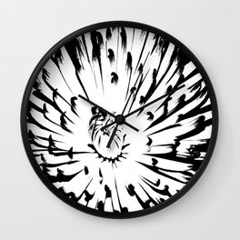 Large Chrysanthemum - BWScale Wall Clock