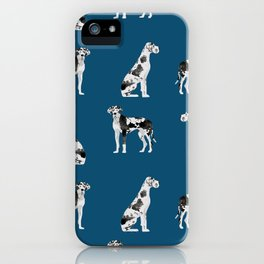 Great Dane harlequin coat dog breed gifts pet patterns for pure breed lovers iPhone Case