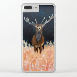 Deer Stag Clear iPhone Case