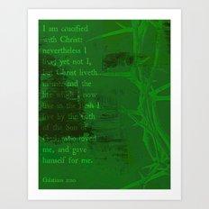 UNLIKELY CROWN (Galatians 2:20) Art Print