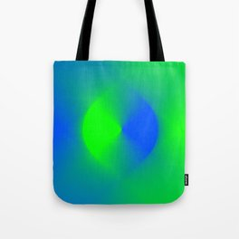 Blue and Green Burst Tote Bag