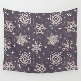 Xmas In The City Wall Tapestry