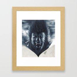 A Midnight Encounter Framed Art Print