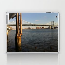NYC East River | Manhattan Bridge Laptop & iPad Skin