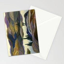 Canadian Landscape Franklin Carmichael Art Nouveau Post-Impressionism Mirror Lake Stationery Cards