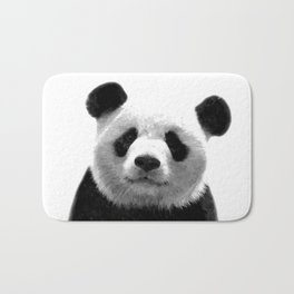 Black and white panda portrait Bath Mat