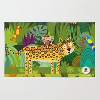 jungle Area & Throw Rugs featuring Jungle by Milanesa