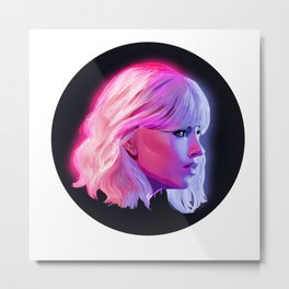 Neon Warm and Cool Metal Print