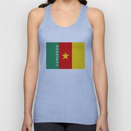 Cameroon country flag name text Unisex Tank Top