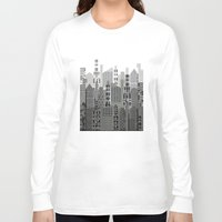 plaid Long Sleeve T-shirts featuring Plaid City by LindaWexlerArt