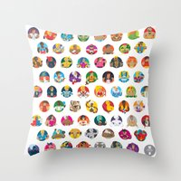 foo fighters Throw Pillows featuring Street Fighters by Kid Khronos