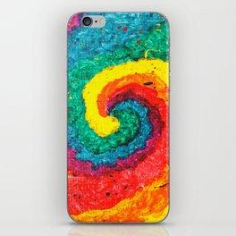 Rainbow Abstract #4 iPhone Skin