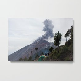 Smokey Mountains of Antigua Metal Print