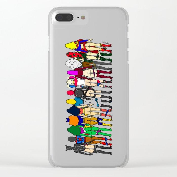 Superhero Butts - Girls Superheroine Butts Clear iPhone Case