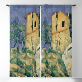 """Paul Cezanne """"The House with the Cracked Walls"""" Blackout Curtain"""