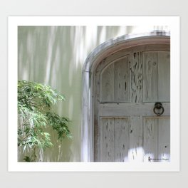Rustic White Spanish Style Door ~ Detail Art Print